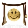 """7"""" Smiley Face Gong on the Lifting Buddha Stand - FREE SHIPPING"""