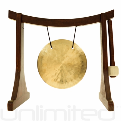 "6"" Wind Gong on the Lifting Buddha Stand - FREE SHIPPING"