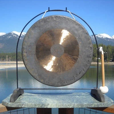 "22"" Bright Chau Gong on the Super Love Gong Stand - FREE SHIPPING"