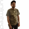 Extra Large Paiste Gongs T-Shirt with Tai Loi Symbols - Olive Green