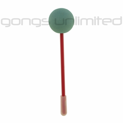 Green Friction Gong Mallet by TTE Konklang  - Short Handle (3KAC)