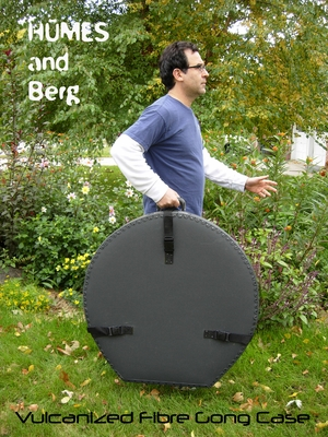 """Humes & Berg Vulcanized Fibre Gong Case for 38"""" Gongs WITH PRO LINING"""