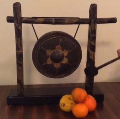 "Imperfect 8"" Thai Gong on the Yes Siam Stand - FREE SHIPPING"