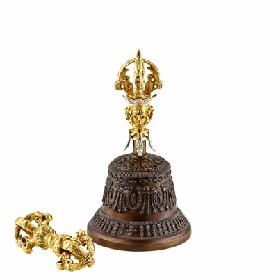 Medium Tibetan Bell and Dorje from Meinl