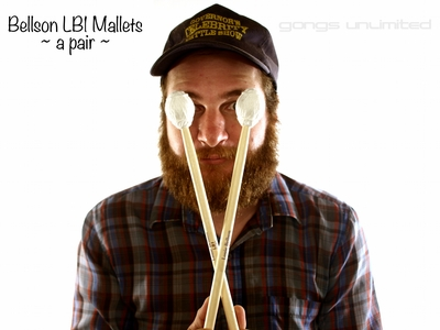 Pair of Mike Balter LB1 Louie Bellson Series Drum Mallets - Great for Gongs!