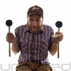 Pair of Innovative Percussion FBX-4S Bass Drum Mallets - Great for Gongs!