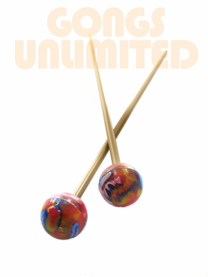 Pair of Multicolored Rocky Mountain Superball Mallets SOLD OUT