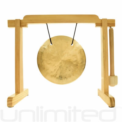 Various Gongs on the Natural Tiny Atlas Gong Stand