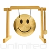 """7"""" Smiley Face Gong on the Tiny Atlas Stand - Natural - FREE SHIPPING"""