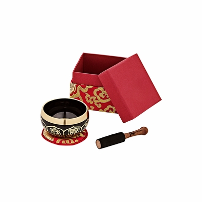 "3.75"" Red Meinl Ornamental Singing Bowls (OR-300-R)"