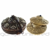"""3"""" Tingshas with Decorative Metal Case - Designs Vary!"""