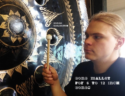 """Two Gongs Unlimited Gong Mallets for 6"""" to 12"""" Gongs"""