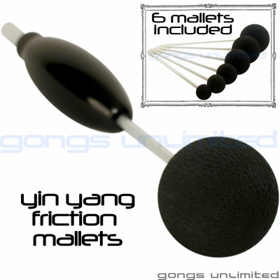 Set of 6 Yin Yang Friction Mallets & Vario OTG 5 Handle by TTE Konklang - SOLD OUT