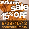 15% off  Autumn Sale + GWP for  all order over $50