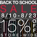 15 % Off Store-Wide Back to School Sale - Limited Time