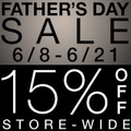 15% Off Store-Wide Father's Day Sale