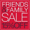 15% Off Store-Wide Friends & Family Sale