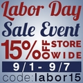 15% Off Store-Wide Labor Day Sale