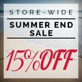 15% off Store-Wide Summer End Sale