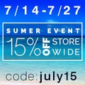 15% Off Store-Wide Summer Sale