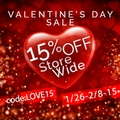 15% off Store-Wide Valentine's Day Sale
