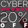 20% off site-wide on Cyber Monday Promo