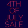 4th Of July Sale - 4 days only