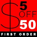 $5 off with First Order of $50