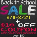 Back to School Sale up to 20% off