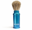 Baxter of California - Pure Badger Hair Travel Aluminum Shave Brush Blue