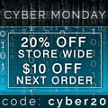 Cyber Monday 20% off Storewide Sale plus $10 Coupon