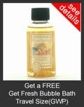 FREE Get Fresh Memories of Positano Orange Blossom Bubble Bath Travel Size with Purchase of Get Fresh