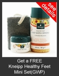 FREE Kneipp Healthy Feet Mini Set with Purchase of Kneipp