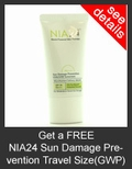 FREE NIA24 Sun Damage Prevention UVA/UVB Sunscreen SPF 30 PA+++ Travel Size with Purchase of NIA24