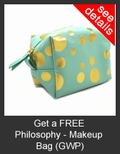 FREE Philosophy Makeup Bag with Purchase of Philosophy