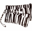 Get Fresh - Westside Mod Zebra Double Clutch Cosmetic Bags
