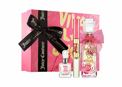 Juicy Couture - Viva La Juicy La Fleur Gift Set (EDT+EDT Mini+EDT Rollerball and Lip Gloss Duo)