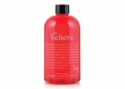 Philosophy - To Believe Cranberry Currant Charity Shampoo, Shower Gel & Bubble Bath