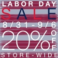 Up to 20% off Labor Day Sale Event