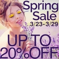 Up to 20% off Store-Wide : Spring Sale Event
