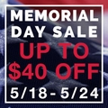 Up to $40 off Memorial Day Sale
