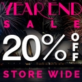Year End Sale 20% Off Store-Wide