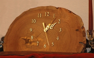 Rustic Edge Mantel Clock