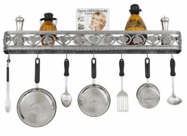Hi-Lite Leaf Collection Wall Pot Rack 34""
