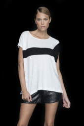 Lisa Todd Colorblock Short Sleeve Tee