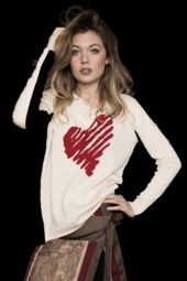 Lisa Todd Etched Heart Sweater