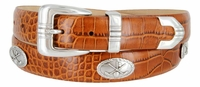 Golf Club Men's Golf Concho Leather Belt