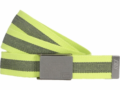 Nike Golf Sport Men's Rubber Inlay Reversible Web Belt <br>Venom Green <br>11198247