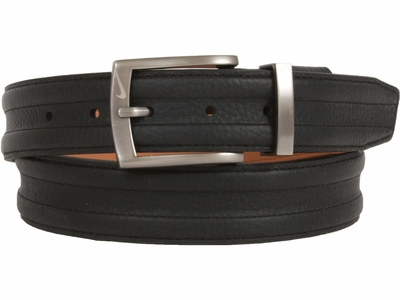 Nike Golf Tour Men's Trapunto G-Flex Leather Belt Black 1108401