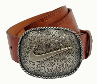 Nike Swoosh Buckle Golf Casual Leather Belt 1109902